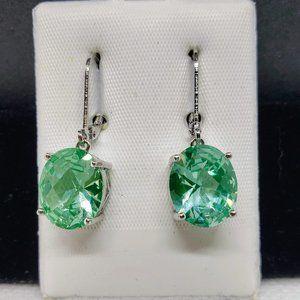 Jewelry - Blue Ocean Topaz SS European Drop Earrings